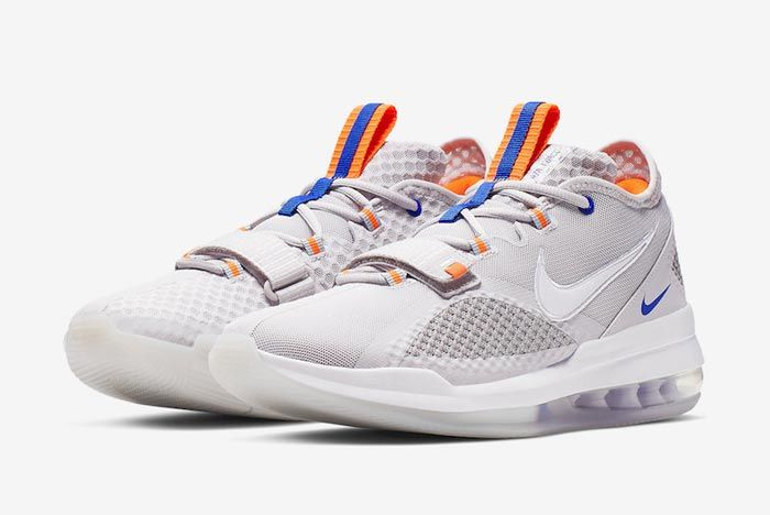 Nike Air Force Max Low Greys Blue Orange Pair