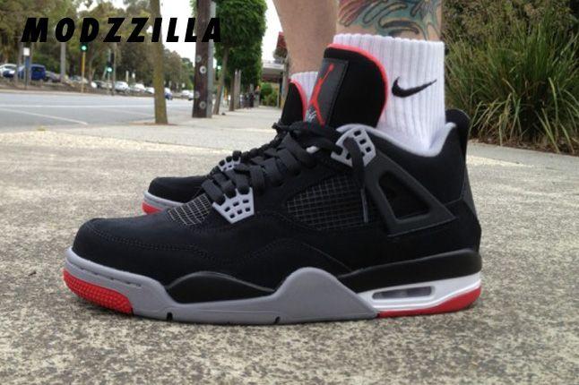 Modzzilla Black Cement Jordan 4 1