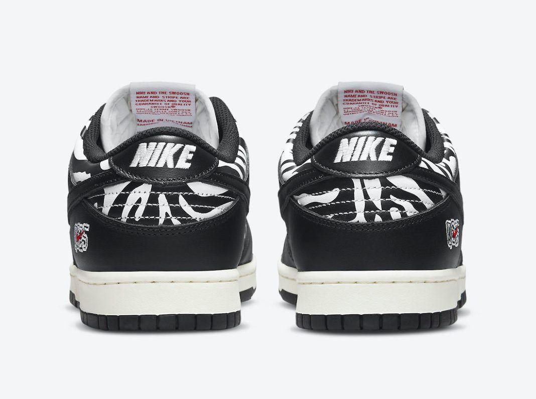 Quartersnacks x Nike SB Dunk Low 'Zebra' official