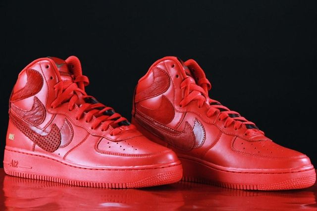 Nike Air Force 1 Misplaced Checks Red John Geiger 01