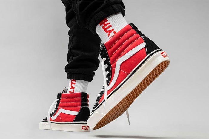 Vans Sk8 Hi Og Black Red Release Date 1 Heel