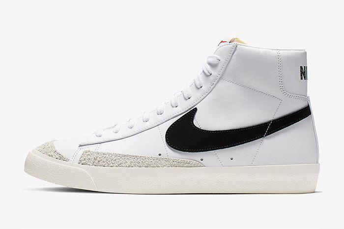 Nike Blazer Mid Vintage 77 White Black Bq6806 100 Release Date Lateral