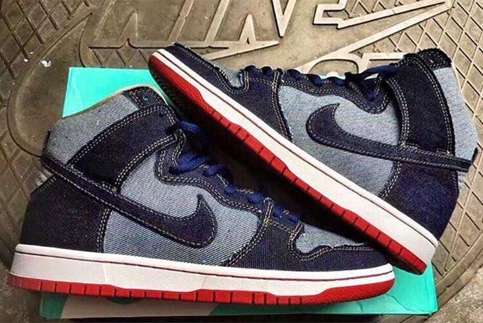 Nike Sb Dunk High Denim2