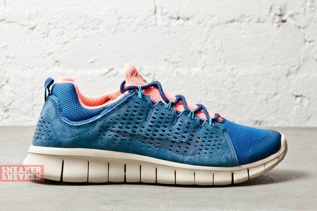 Nike Free Powerlines Ii Ltr Brave Blue Atomic Pink 3