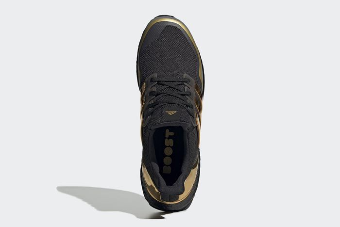 Adidas Ultraboost Black Metallic Gold Top