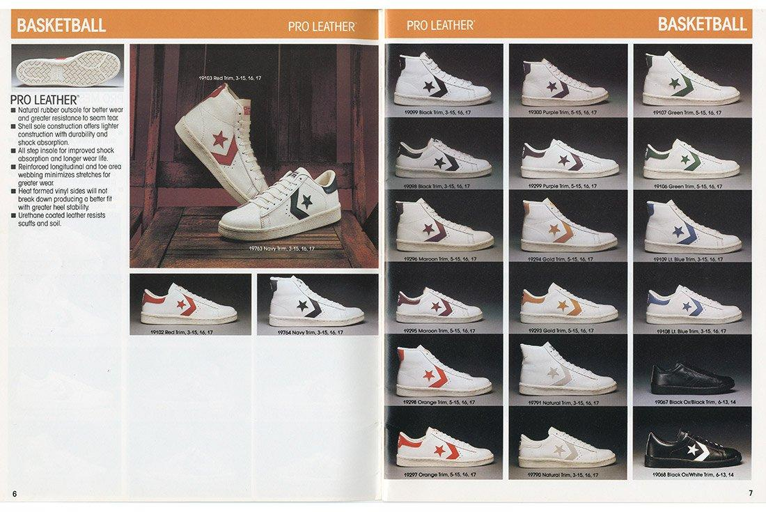 History Converse Pro Leather 1983