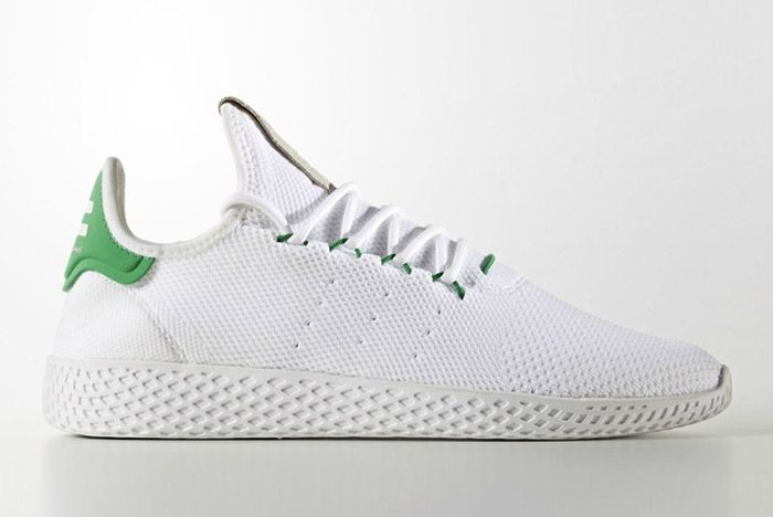 Pharrell Williams Adidas Tennis Hu White Green 7