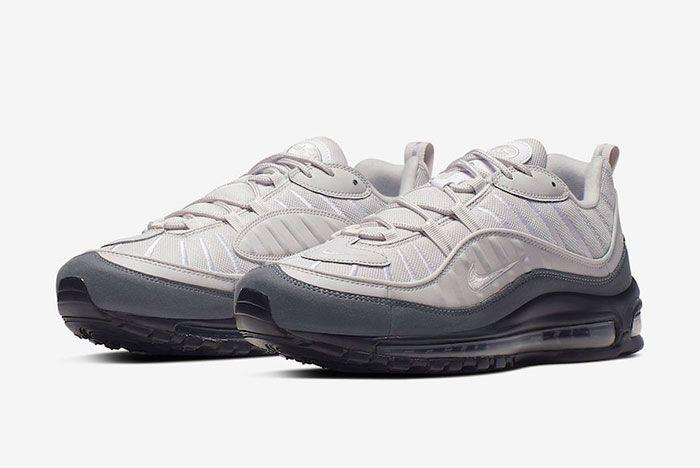 Nike Air Max 98 Vast Grey Dark Grey 640744 111 Front Angle