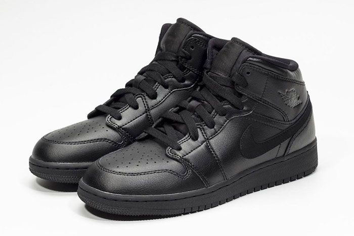 Air Jordan 1 Mid Deep Black Left
