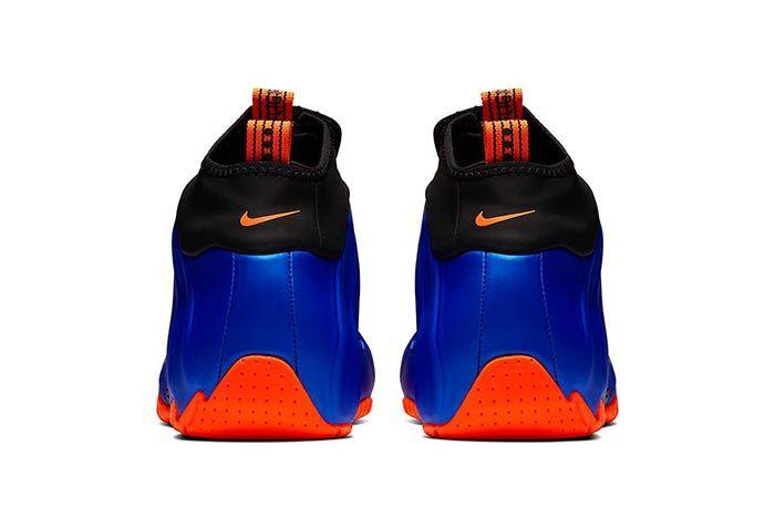 Nike Air Flightposite Knicks Ao9378 401 Heel Shot
