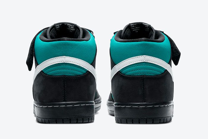 Nike Sb Dunk Mid Griffey Cv5474 001 Heel
