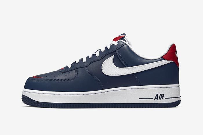 Nike Air Force 1 Blue White Red Lateral