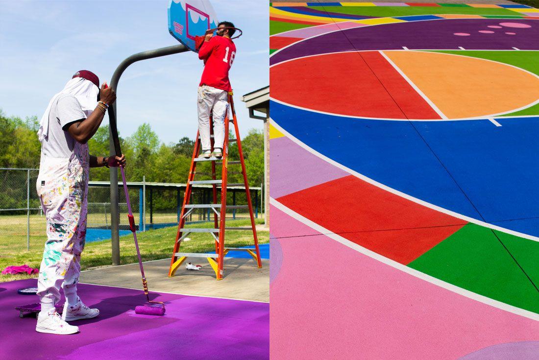 Reebok Candy Land Basketball Court