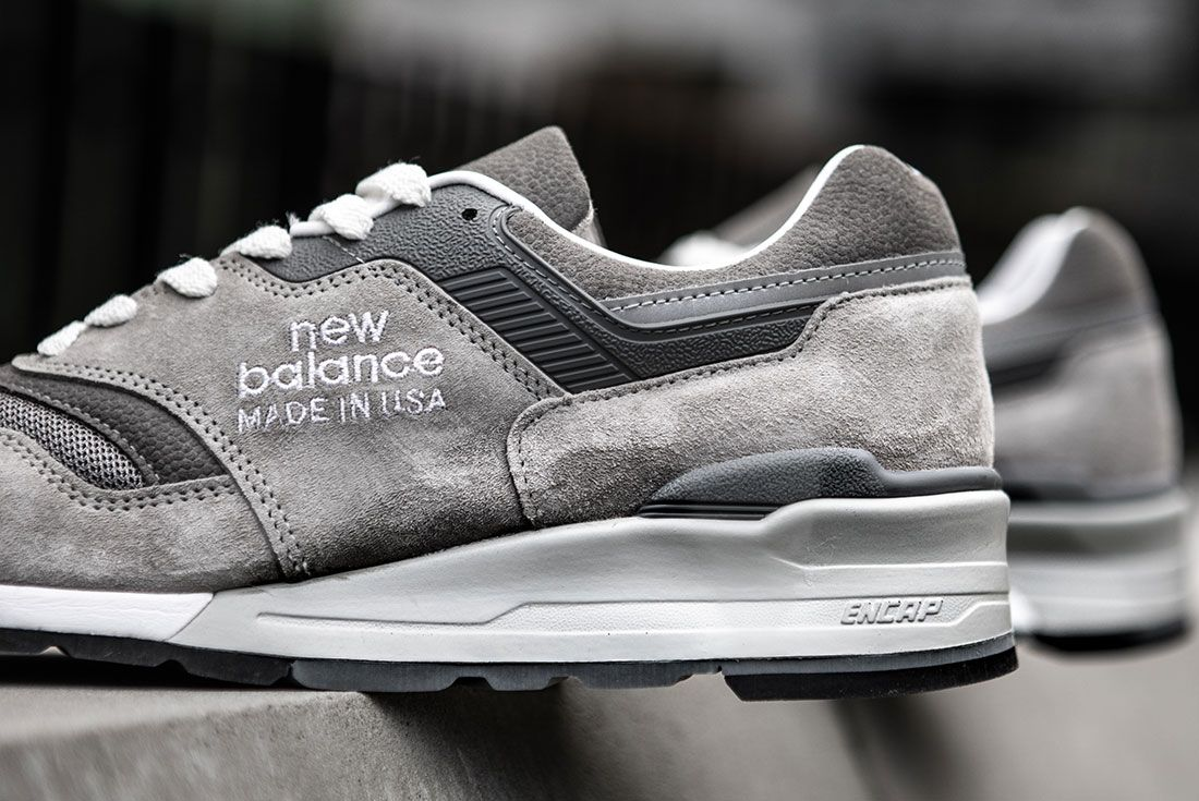 New Balance Made 997 Grey Day Sneaker Freaker Up Close