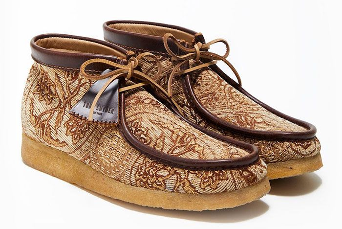 Todd Snyder Clarks Originals Wallabee Brown Front Angle