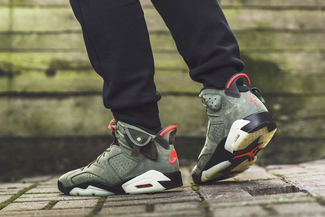 Sgo8 Air Jordan 6 Travis Scott On Foot