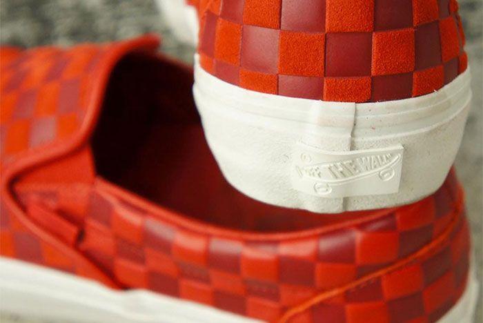 Engineered Garments Vans Vault Slip On Red 1