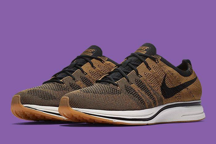 Nike Flyknit Trainer Golden Beige Brown 3