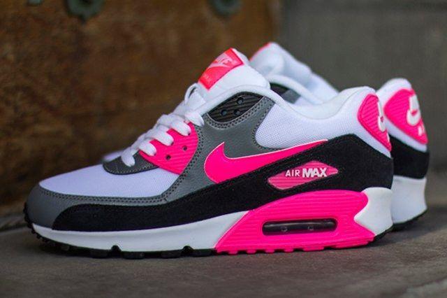 Nike Air Max 90 Cool Grey Black Hyper Pink