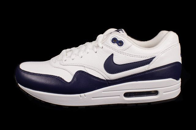 Nike Air Max 1 Leather White Navy 4