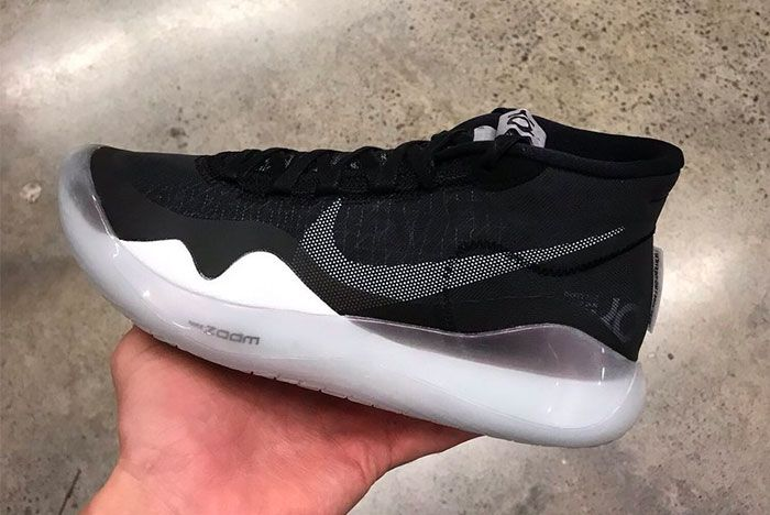 Nike Kd 12 First Look Black White In Hand Side3