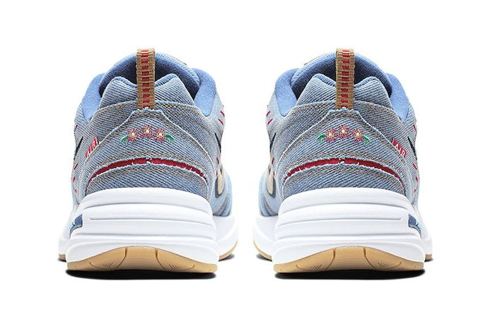 Nike Air Monarch 4 Denim Av6676 400 Release Date Heel