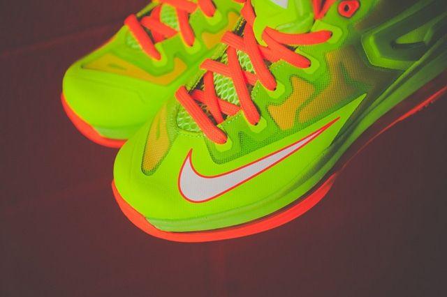 Nike Lebron 11 Low Gs Electric Green 1
