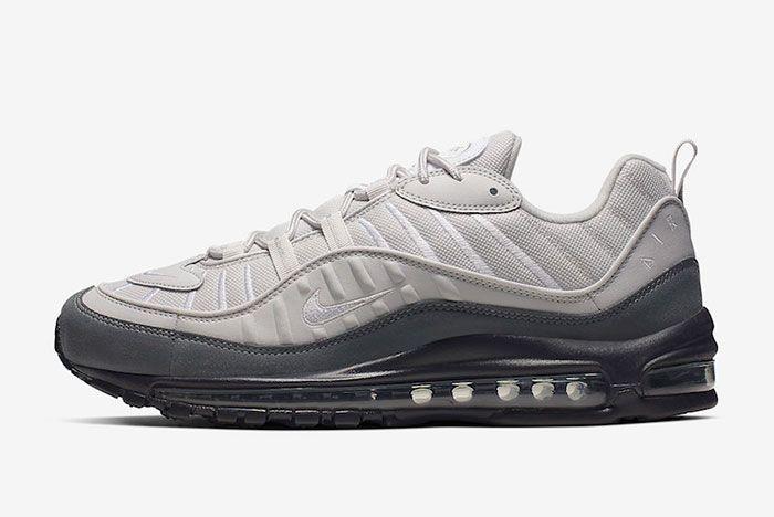 Nike Air Max 98 Vast Grey Dark Grey 640744 111 Lateral