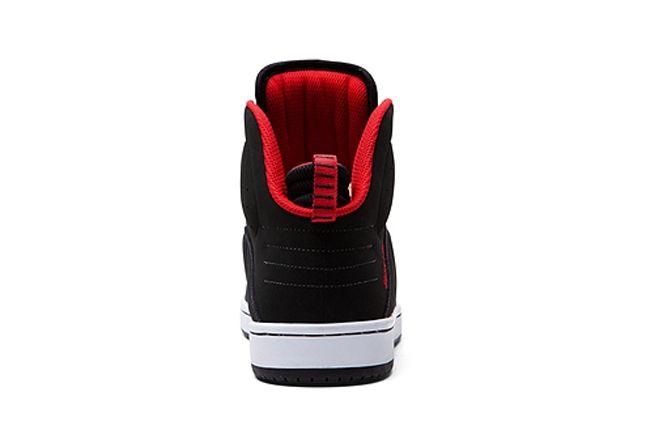 Supra S1W Black Red Heel 1