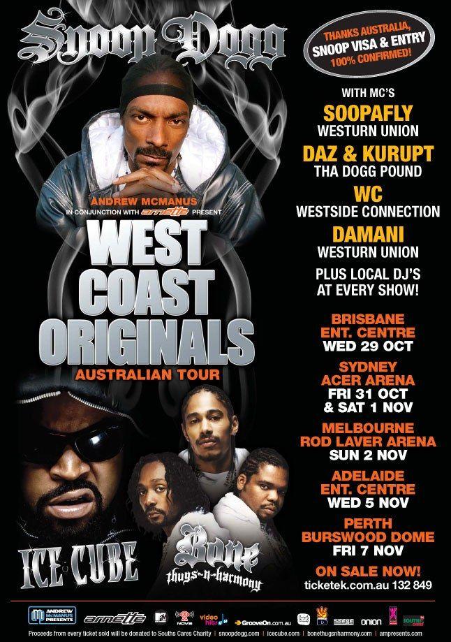 Snoop Dogg Australian Tour 3