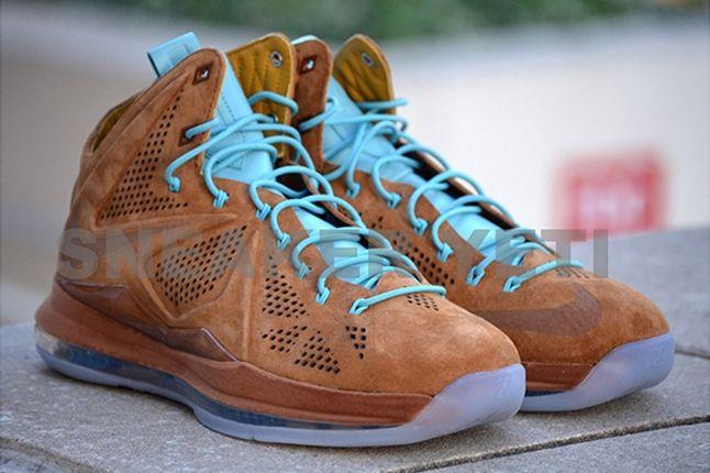 Nike Lebron X Hazelnut Brown Suede Pair 1