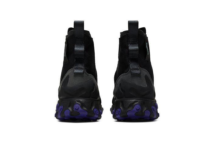 Nike React Ianga Black Light Aqua Anthracite Court Purple Av5555 002 Release Date Heel
