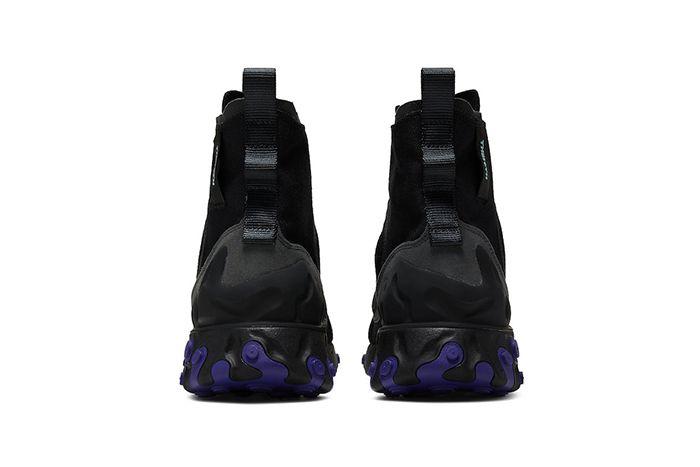 Nike React Ianga Black Light Aqua Anthracite Court Purple Av5555 002 Release Date Heel