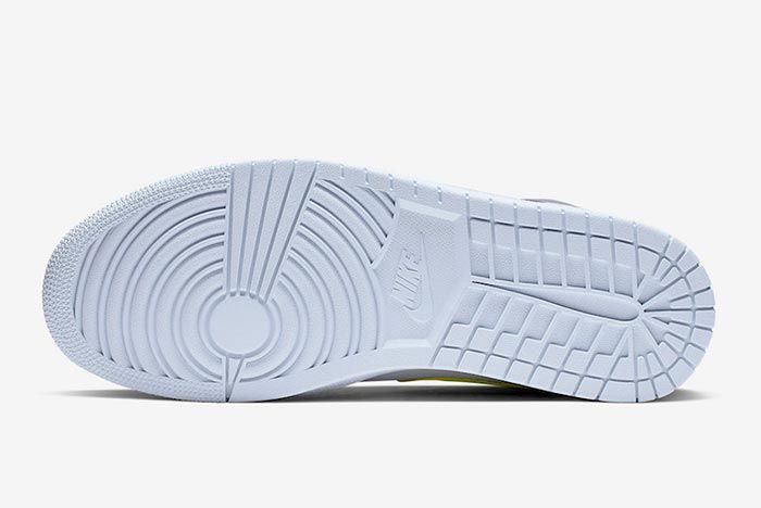 Air Jordan 1 Neon Dark Grey 554724 072 Sole Shot