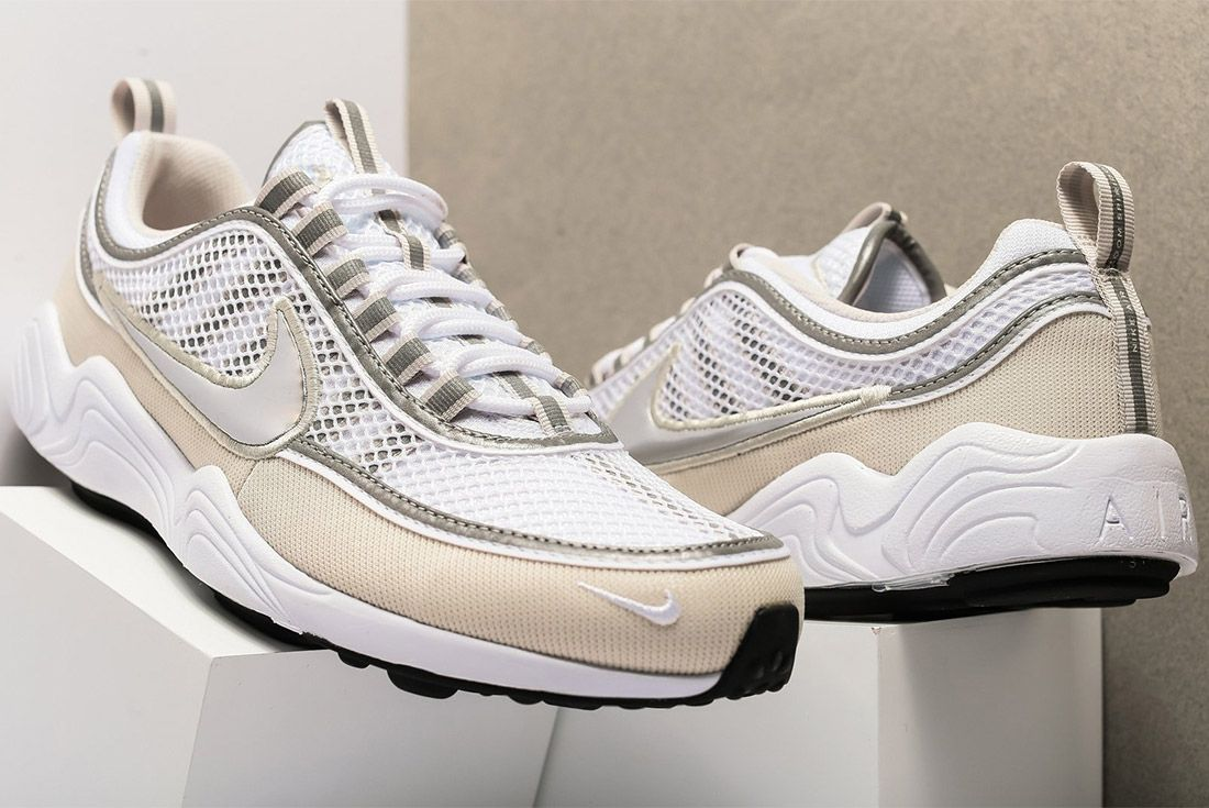 Nike Air Zoom Spiridon16 926955 1065 White Metallic Silver Sneaker Freaker 2