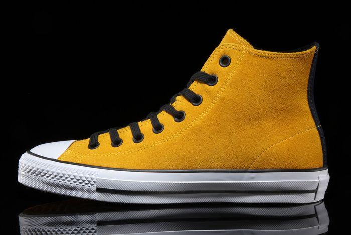 Converse Ctas Pro Suede Hi Mustard
