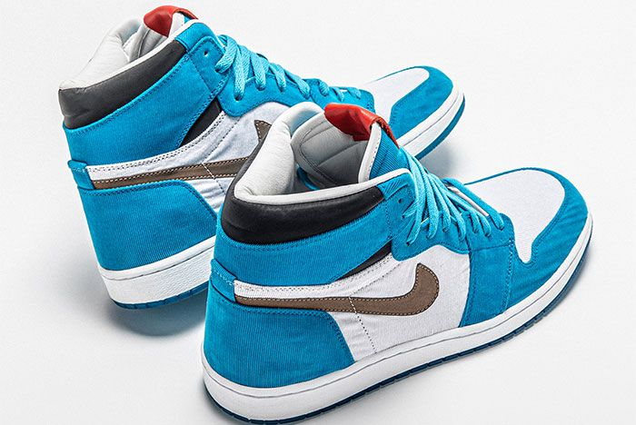 The Shoe Surgeon Air Jordan 1 Twix Cookies And Cream Heel
