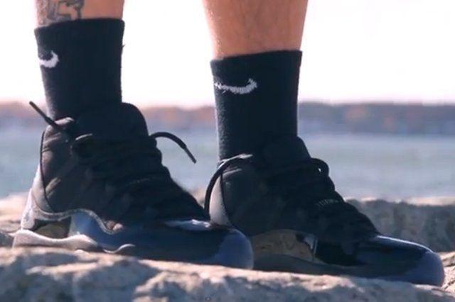 Air Jordan Gamma Blue On Foot