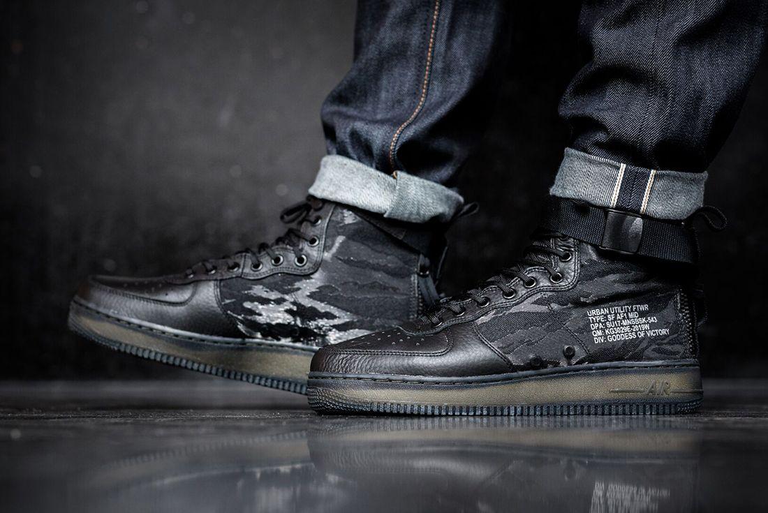 Nike Sf Air Force 1 Mid Black5 1