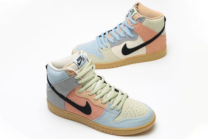 Nike Sb Dunk High Easter Spectrum Cn8345 001 Release Date 2 On White