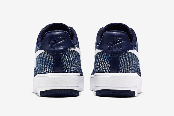 Nike Air Force 1 Flyknit Navy White 3