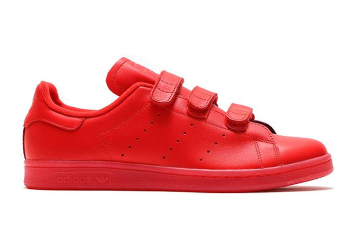 Aadidas Stan Smith Velcro Triple Red1