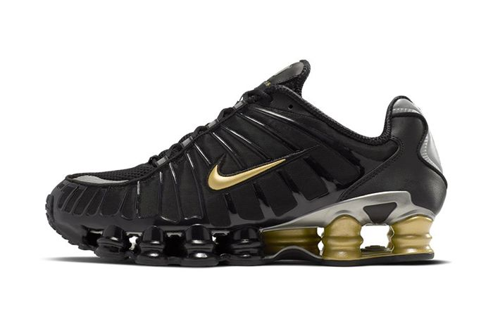 Neymar Nike Shox Tl Black Gold Official Bv1388 001 Release Date Lateral