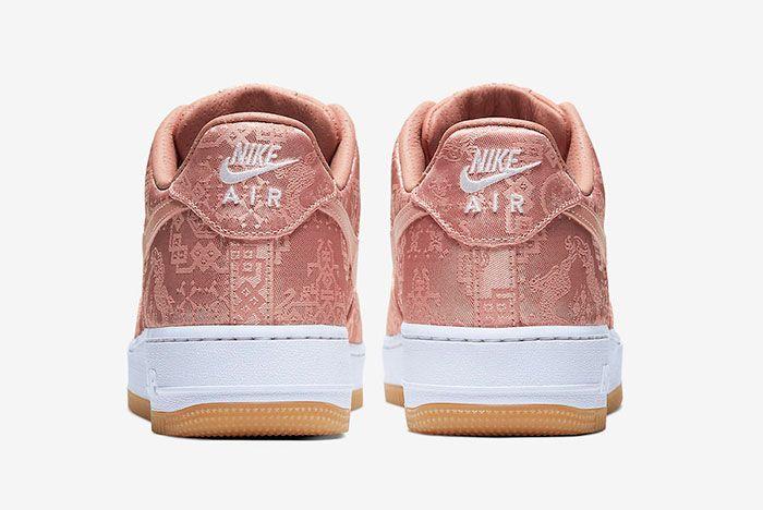 Clot Nike Air Force 1 Rose Gold Cj5290 600 Heel