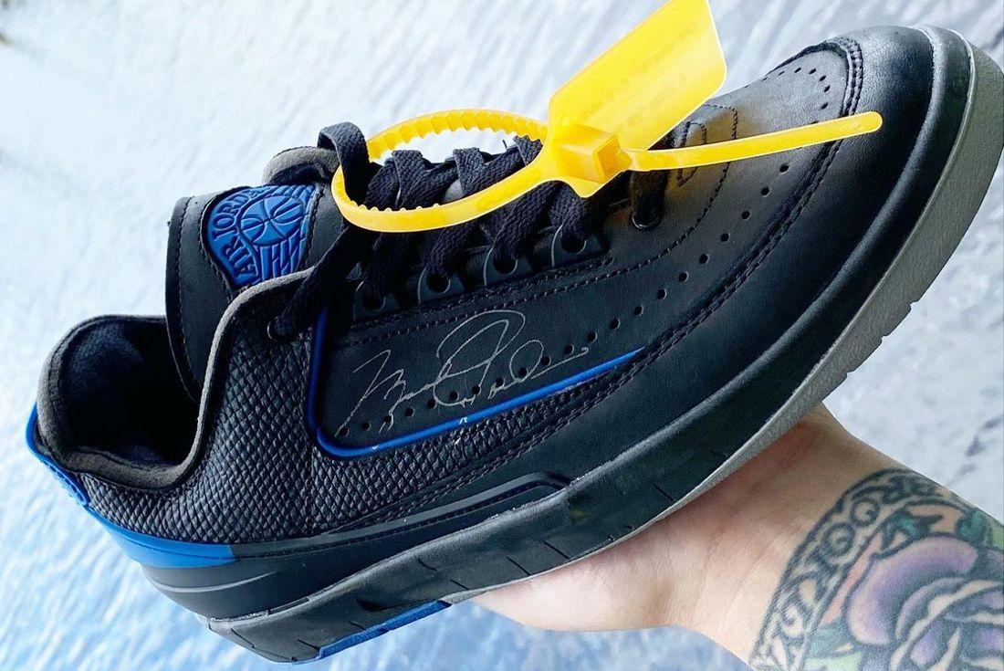 Off-White x Air Jordan 2 'Black/Blue' leak