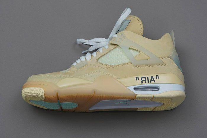 Off White Nike Air Jordan 4 Cream Left
