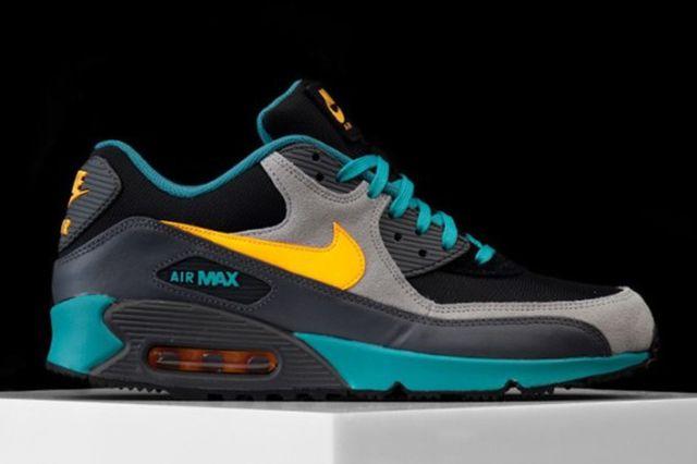 Nike Air Max 90 Winter Premium Teal Grey Yellow 01 570X425