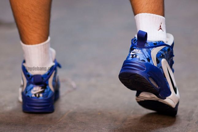 Nike Air Way Up Blue Camo Back View Heel Up 1