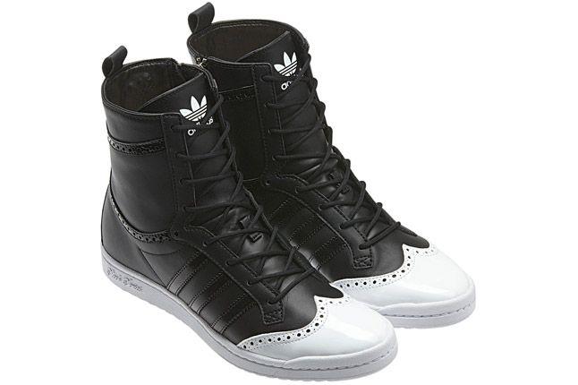 Adidas Top Ten High Sleek Brogue Black Pair 1