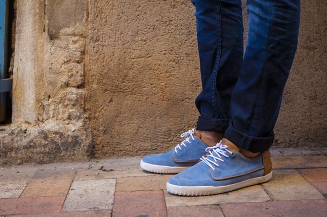 Vico La Mediterranee Blue And Tan Leather 1